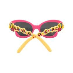 Kid's K0191-YWPKSM Pink and Yellow Butterfly Fashion Sunglasses - Thumbnail 2