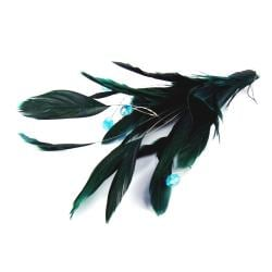 Fashion Glamour Blue Green Feather Pin/ Brooch (Thailand) - Thumbnail 1