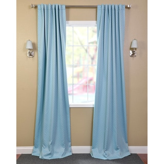 Exclusive Fabrics Aqua Polka Dot Blackout Curtain Panel Pair