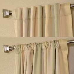 Exclusive Fabrics Pistachio Stripe Blackout Back-tab Pole Pocket Curtain Panel Pair - Thumbnail 2