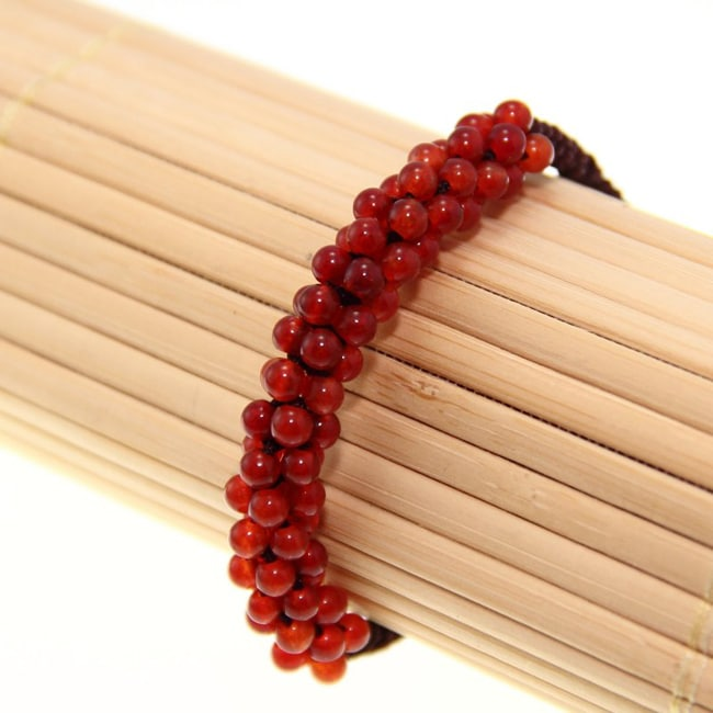 Red Jade Beads Bracelet (China)