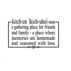 'Kitchen a gatthering place for friends...' Vinyl Wall Art Decor