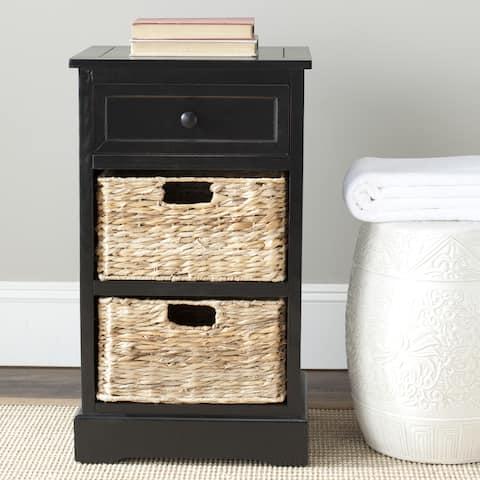 "SAFAVIEH Cape Cod 3-Drawer Black Storage Table - 15.9"" x 13"" x 27.6"""
