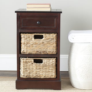 "Safavieh Cape Cod 3-Drawer Dark Cherry Storage Table - 15.9"" x 13"" x 27.6"""