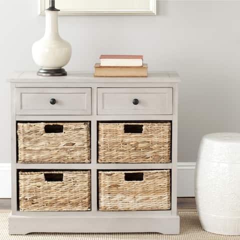 "Safavieh Cape Cod 6-Drawer Grey Side Storage Table - 29.9"" x 13"" x 27.6"""