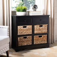 "Safavieh Cape Cod 6-Drawer Black Storage Unit - 29.9"" x 13"" x 27.6"""