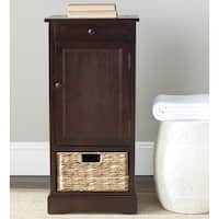 Safavieh Cape Cod 2-Drawer Dark Cherry Tall Storage Unit