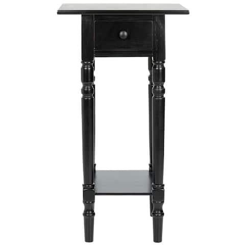 """SAFAVIEH Cape Cod Black Accent Table - 17.7"""" x 13.8"""" x 31.9"""""""