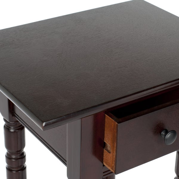 Safavieh Cape Cod Dark Cherry Accent Table   Free Shipping Today    Overstock.com   14484976