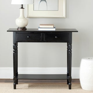 "Safavieh Cape Cod Black 2-drawer Console Table - 37.8"" x 13"" x 31.9"""