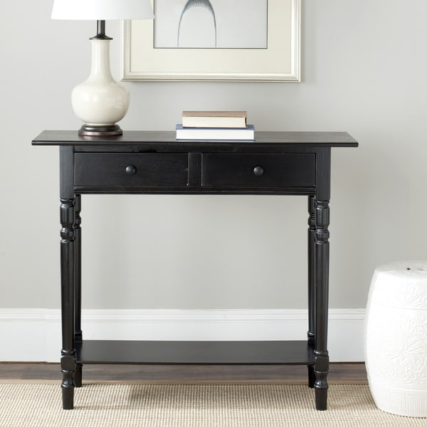 Safavieh cape cod black drawer console table free