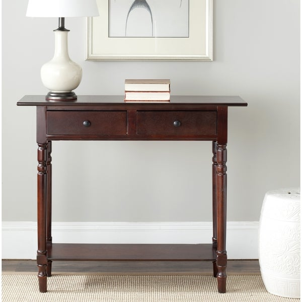 Sofa Tables On Sale: Shop Safavieh Cape Cod Dark Cherry 2-drawer Console Table
