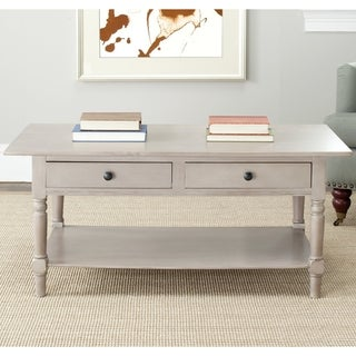 Safavieh Cape Cod Grey 2-drawer Coffee Table