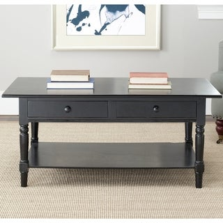 Safavieh Cape Cod Black 2-drawer Coffee Table
