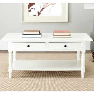 "Safavieh Cape Cod Cream 2-drawer Coffee Table - 41.7"" x 21.7"" x 18.5"""