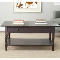 Safavieh Cape Cod Dark Cherry 2-drawer Coffee Table