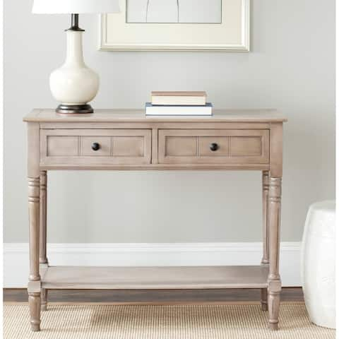 "SAFAVIEH Samantha Grey 2-drawer Console Table - 35.8"" x 13.8"" x 29.5"""