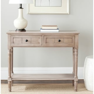 "Link to Safavieh Samantha Grey 2-drawer Console Table - 35.8"" x 13.8"" x 29.5"" Similar Items in Living Room Furniture"