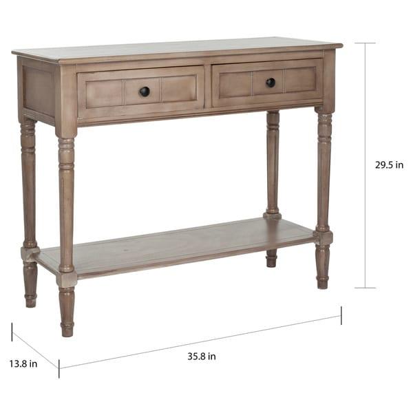 "SAFAVIEH Samantha Grey 2-drawer Console Table - 35.8"" x 13.8"" x 29.5"""