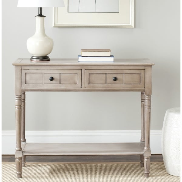 Shop Safavieh Samantha Grey 2 Drawer Console Table On