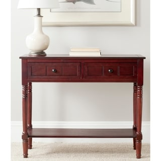 "Safavieh Samantha Dark Cherry 2-drawer Console Table - 35.8"" x 13.8"" x 29.5"""