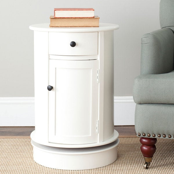 Safavieh Cape Cod Cream Swivel Storage Accent Table