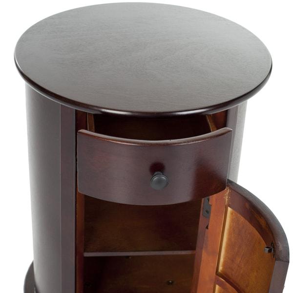 Safavieh Cape Cod Dark Cherry Swivel Storage Accent Table   Free Shipping  Today   Overstock.com   14484999