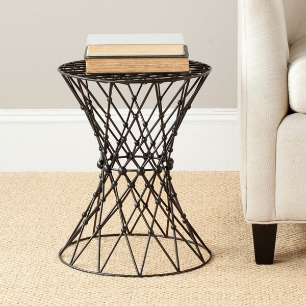Safavieh Steelworks Wire Black Matte Iron Stool