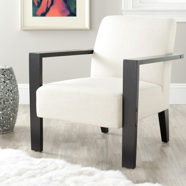 Safavieh Solo Off-white Linen Arm Chair