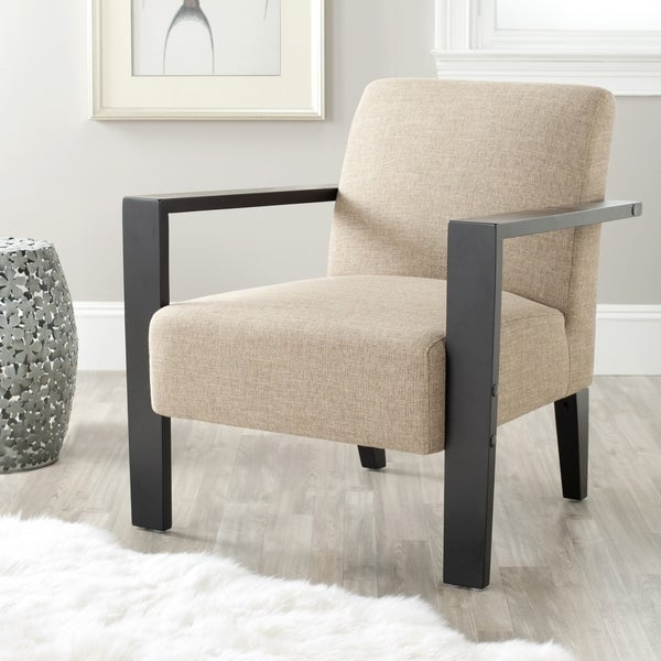 Safavieh Solo Beige Linen Arm Chair