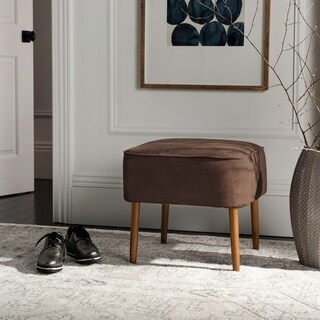 Safavieh Mid-Century Brown Wool Ottoman