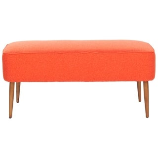 Safavieh Mid Century Orange Wool Bench