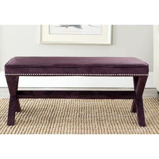 Safavieh Purple Nailhead x Bench