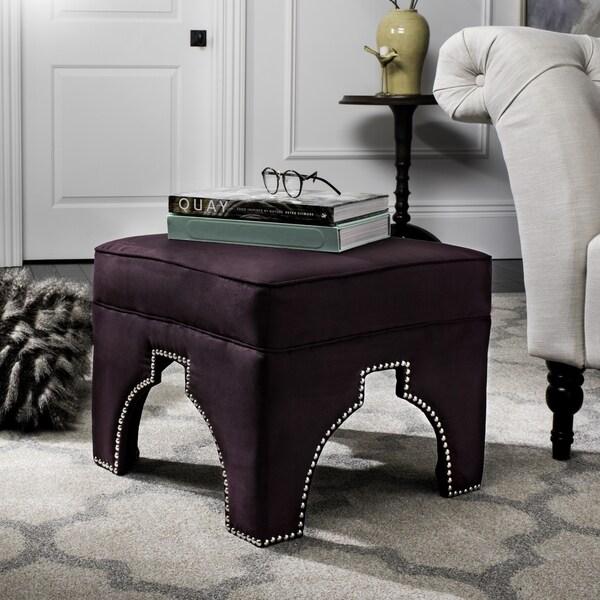 Safavieh Sahara Purple Nailhead Ottoman