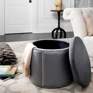 Safavieh Florentine Grey Nailhead Round Storage