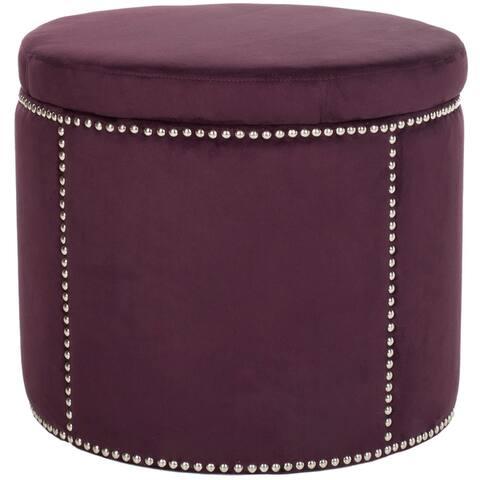 Safavieh Florentine Purple Nailhead Round Storage