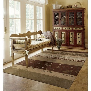 "Nourison Hand-Tufted Contours Floral Multicolored Rug (3'6"" x 5'6"")"