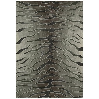 Nourison Hand-tufted Contours Animal Print Silver Rug (3'6 x 5'6)