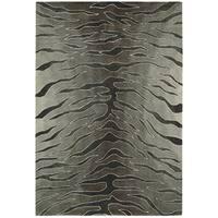 Nourison Hand-tufted Contours Animal Print Silver Rug - 3'6 x 5'6