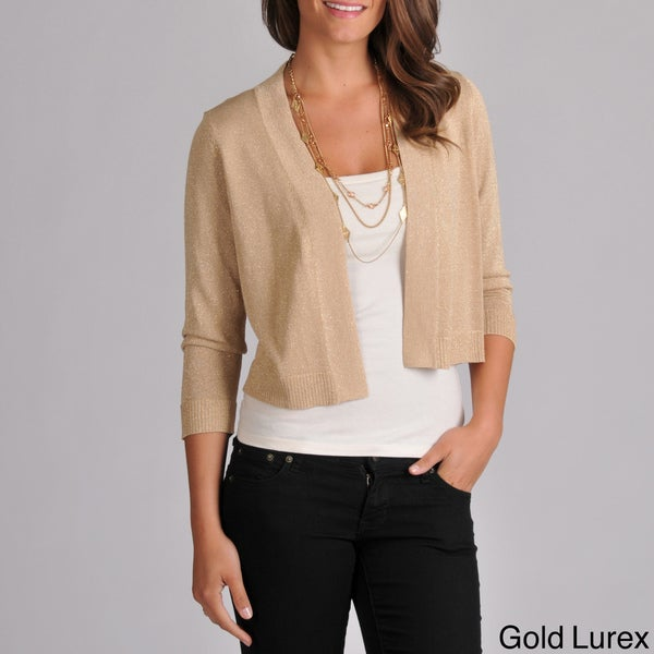 Grace Elements Women's Cropped Cardigan with Lurex Thread