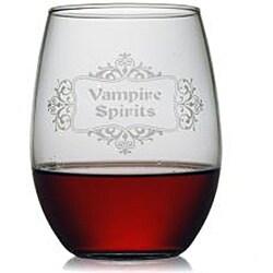 Halloween Vampire Spirits 21-oz Stemless Wine Glasses (Set of 4) - Thumbnail 1