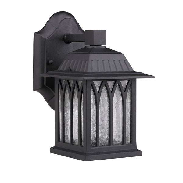 Transitional Black One-Light Corrosion-Resistant Outdoor Wall Fixture