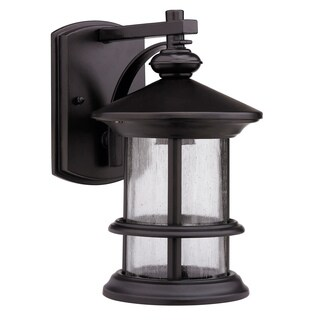 Rubbed Dark Bronze 1-light Outdoor Wall-mounted Light Fixture