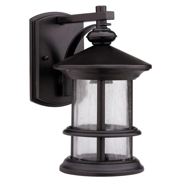 Shop Rubbed Dark Bronze 1-light Outdoor Wall-mounted Light Fixture ...