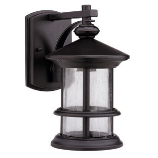Transitional Rubbed Dark Bronze 1-light Outdoor Wall Fixture