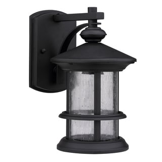Transitional Black One-Light Weatherproof Outdoor Wall Fixture