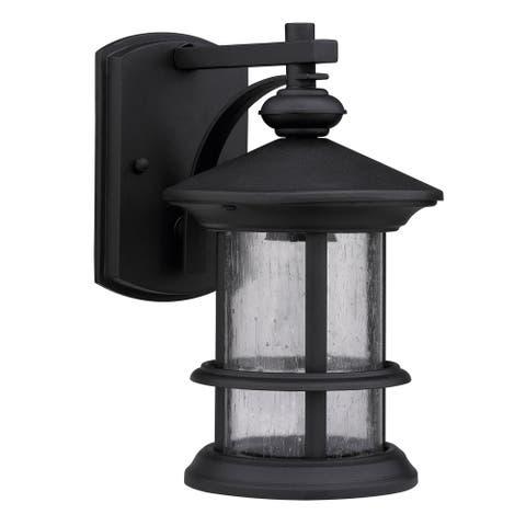 Transitional 1-light Black Weatherproof Outdoor Wall Fixture