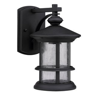 Transitional 1-light Black Weatherproof Outdoor Wall Fixture