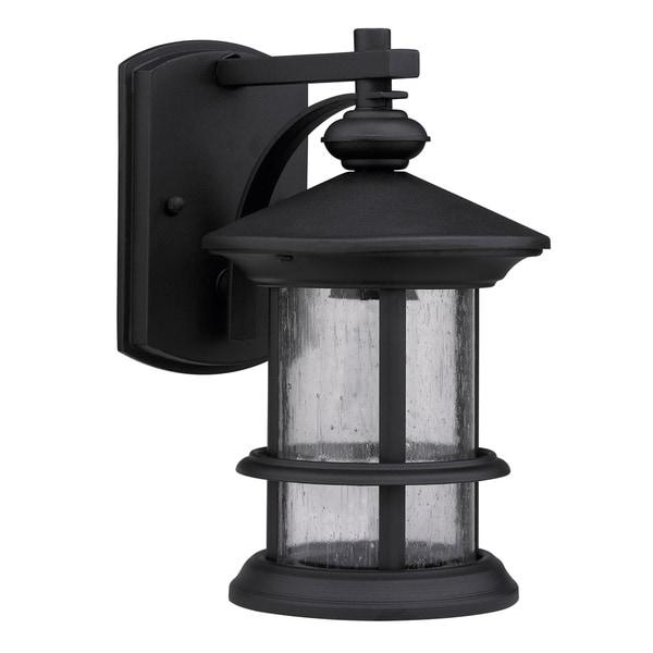 Transitional Black One-Light Weatherproof Outdoor Wall Fixture