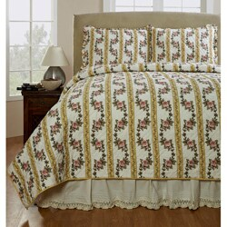 Celine Handmade Yellow 3-piece Quilt Set (3 options available)